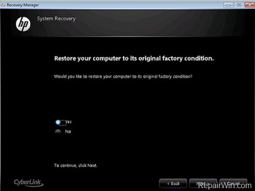 Cómo restaurar la computadora portátil a la configuración de fábrica (claves de recuperación).