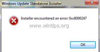 Error de Windows Update 0xC8000247 - No se pueden instalar las actualizaciones (Resuelto)