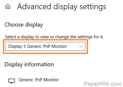 Reparar Monitor PNP genérico en Windows 10 (Resuelto)