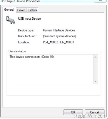 El dispositivo USB no puede iniciar el código 10 (Resuelto)