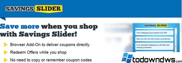 """Cómo eliminar el adware de los pop-ups """"Savings Slider"""" (Guía de eliminación)"""