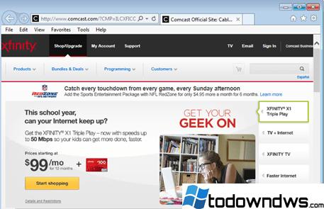 Eliminar la barra de herramientas de búsqueda de Xfinity (xfinity.comcast.net) de IE, Chrome, Firefox (Guía de eliminación)