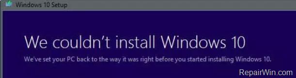 Reparar Windows 10 Octubre 2018 v1809 Actualización de la instalación falló Error 0x800F081F-0x20003 (Resuelto)