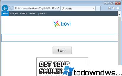 Eliminar el secuestrador del navegador de búsqueda de Trovi.com (trovigo.com) (Guía de eliminación)
