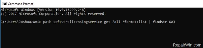 Cómo recuperar la clave de producto de la BIOS integrada en Windows 8/8.1/10