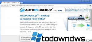 Eliminar el programa malicioso de Auto PC Backup (Guía de eliminación de adware)