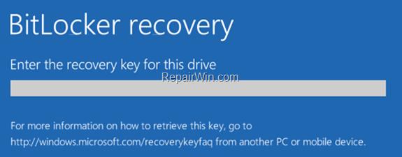 Cómo desactivar el Bitlocker en el entorno de recuperación de Windows (WinRE).
