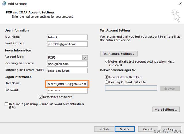 Outlook no descarga todos los correos electrónicos de GMAIL usando POP3 (Resuelto)