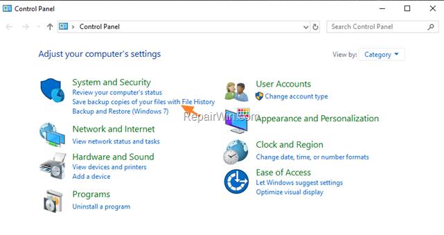 Cómo hacer una copia de seguridad de los archivos personales con el historial de archivos en Windows 10.