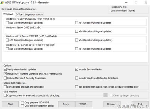 Actualización sin conexión Windows 10, 8.1, 7 o Server 2012, 2008