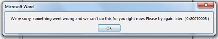 Corregir error 0x80070005 - No se puede activar la suite de MS Office 2013.