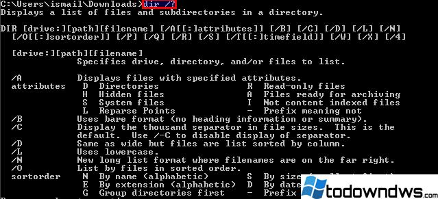 ¿Cómo navegar, listar archivos y directorios en la línea de comandos de Windows con Dir?