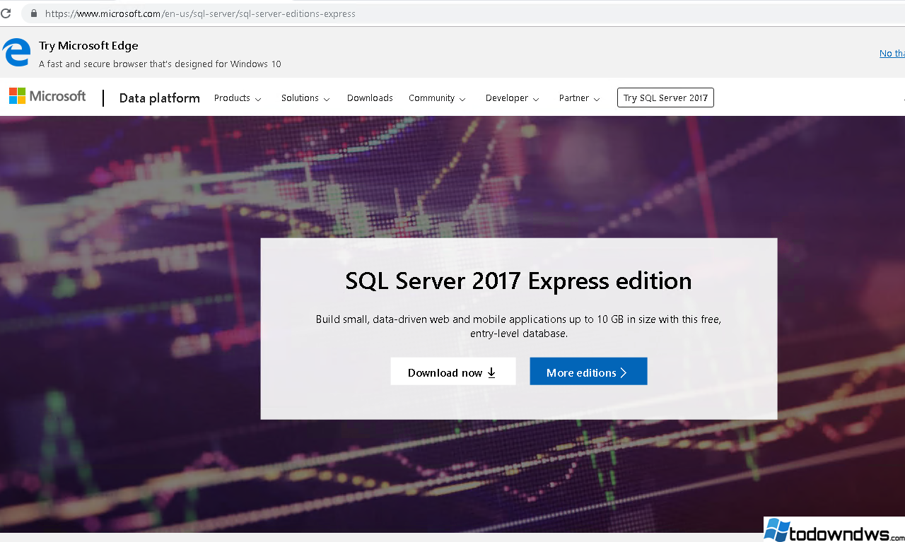 ¿Cómo descargar e instalar MS SQL Server 2017 Express en Windows?