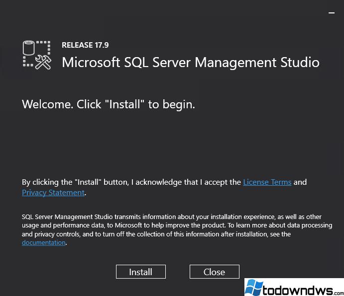 ¿Cómo se descarga e instala SQL Server Management Studio en Windows?
