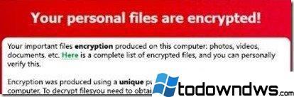 Guía para la eliminación del virus criptolocker y la restauración de archivos cifrados