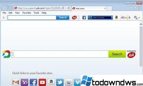 Eliminar la barra Ask y la búsqueda de Ask.com de su navegador (Guía de eliminación)